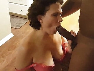 mature creampie interracial